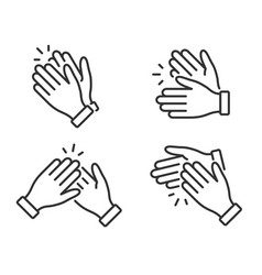 Clapping hands icon applause clap symbol in vector