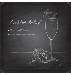 Cocktail belini on black board vector