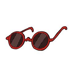comic cartoon sunglasses vector image