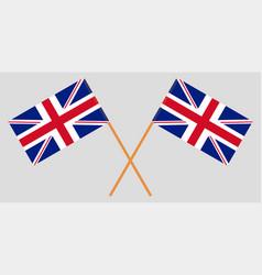 Crossed desktop flags great britain vector