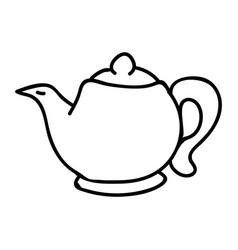 Cute afternoon tea teapot clipart hand drawn vector