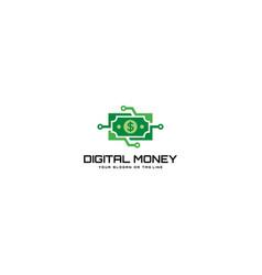 Digital money logo technology vector