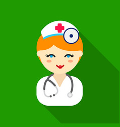 Doctor flat icon for web and mobile vector