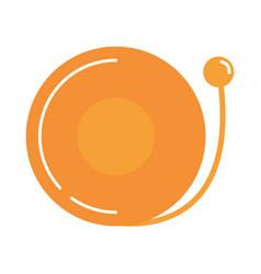 door bell alarm alert element flat style icon vector image