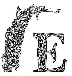 Ears litera E vector