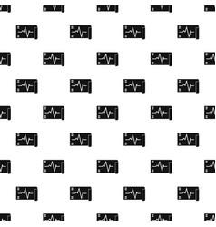 Electrocardiogram pattern seamless vector