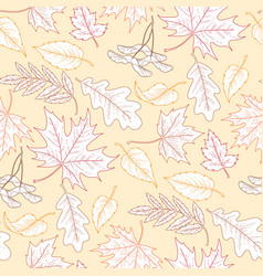 fallling leaves pattern vector image
