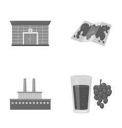 Finance oil refinery and other monochrome icon in vector