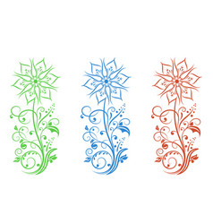 flower filigree decorative for vector image