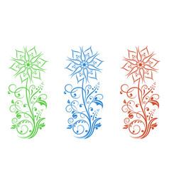 Flower filigree decorative vector