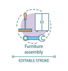 Furniture assembly concept icon home service idea vector