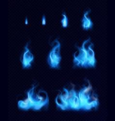 Gas flames realistic set vector