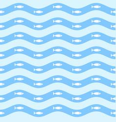 Geometric simple minimalistic marine pattern vector