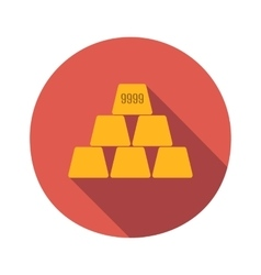 Golden flat icon vector image