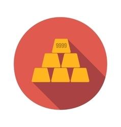 Golden flat icon vector