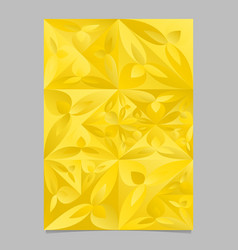 Golden geometrical mosaic floral page background vector
