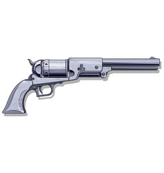 graphic detalied old revolver vector image