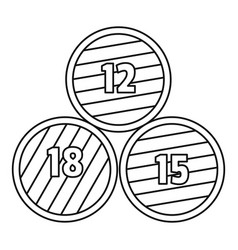 group wood barrel icon outline style vector image