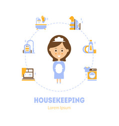 housekeeping banner template maid service vector image