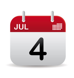 july calendar stand up vector image