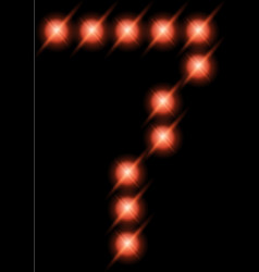 led digits 7 vector image