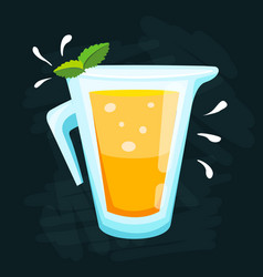 Lemon and lime lemonade background vector