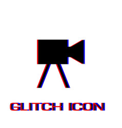 movie camera icon flat vector image