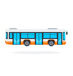 municipal bus flat material design isolated vector image