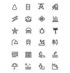 Nature and Ecology Line Icons 5 vector