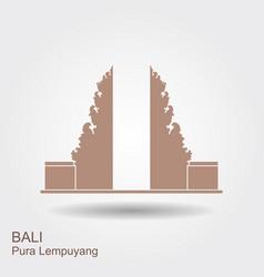 Pura lempuyang temple flat icon indonesian vector