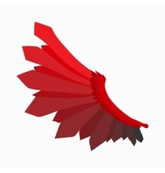 Red wing of devil icon cartoon style vector image