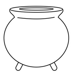 retro cauldron icon outline style vector image
