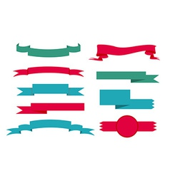 Ribbon lebel set vector image