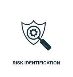 risk identification icon creative element design vector image