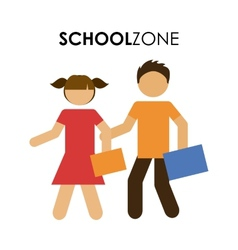 School zone design vector