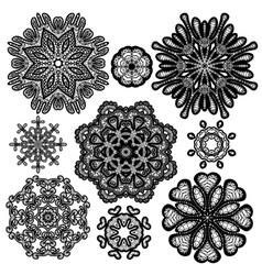 Set circle lace 2 380 vector