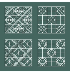 Set of geometric hipster shapes 447 vector