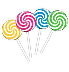 Set with different colorful lollipops vector