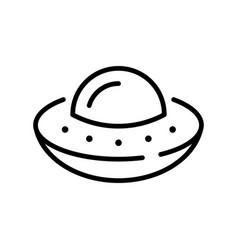 simple line ufo space ship icon vector image
