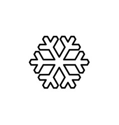 snowflake line icon in flat style for apps ui vector image
