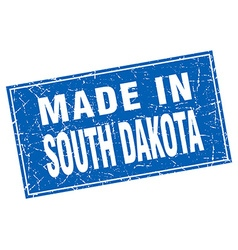 South Dakota blue square grunge made in stamp vector image