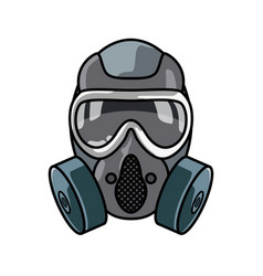 Special forces gas mask isolated vector
