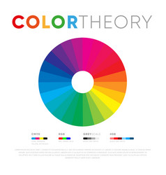 Spectrum color theory on white background vector