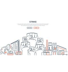 Strike - modern line design style vector