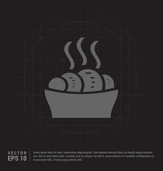sweet hot croissant icon vector image