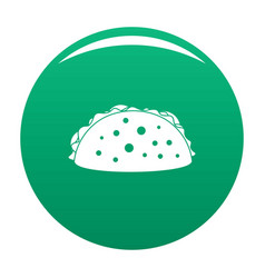 tacos icon green vector image