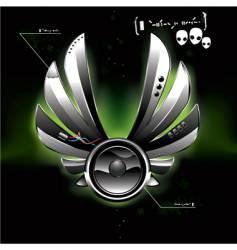ufo speaker vector image