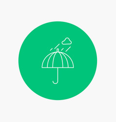 umbrella camping rain safety weather white line vector image