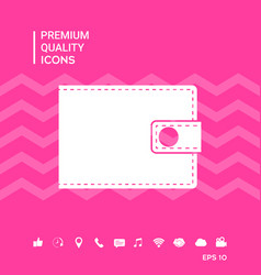 Wallet symbol icon vector