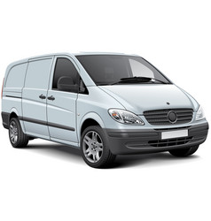 white cargo panel van vector image